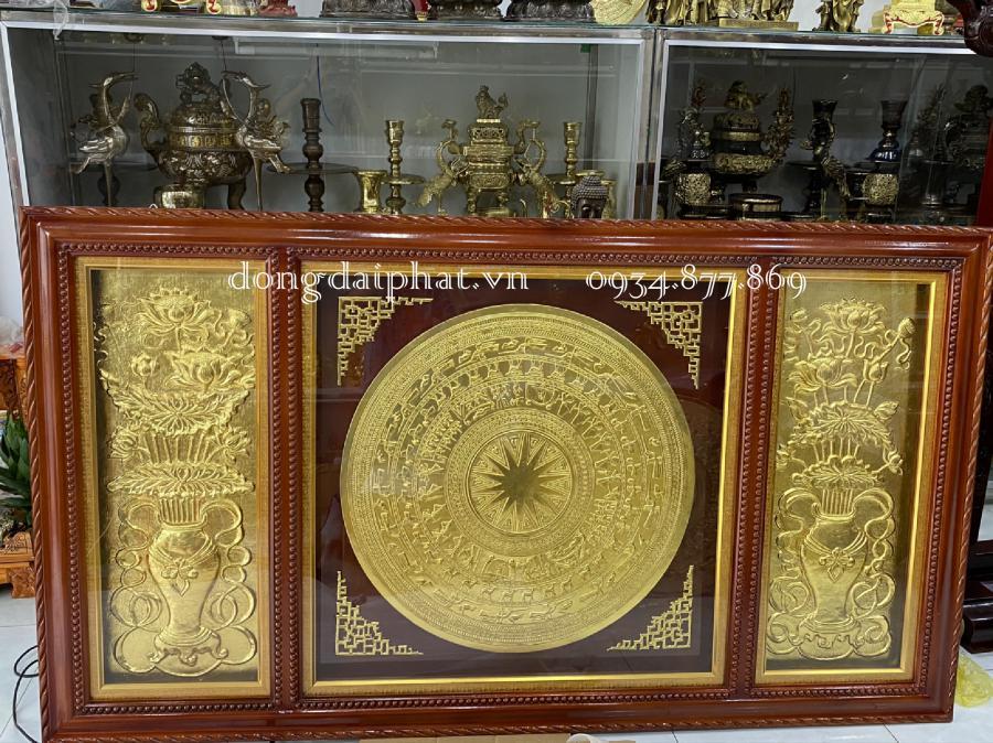 mua tranh trống đồng dát vàng uy tín