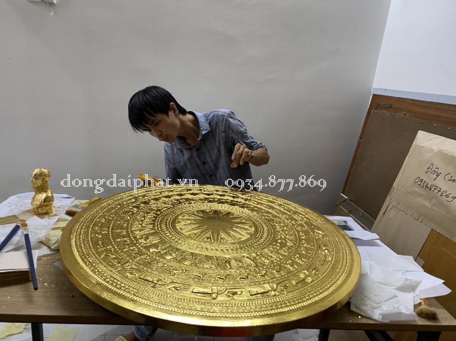 Bán tranh trống đồng mạ vàng