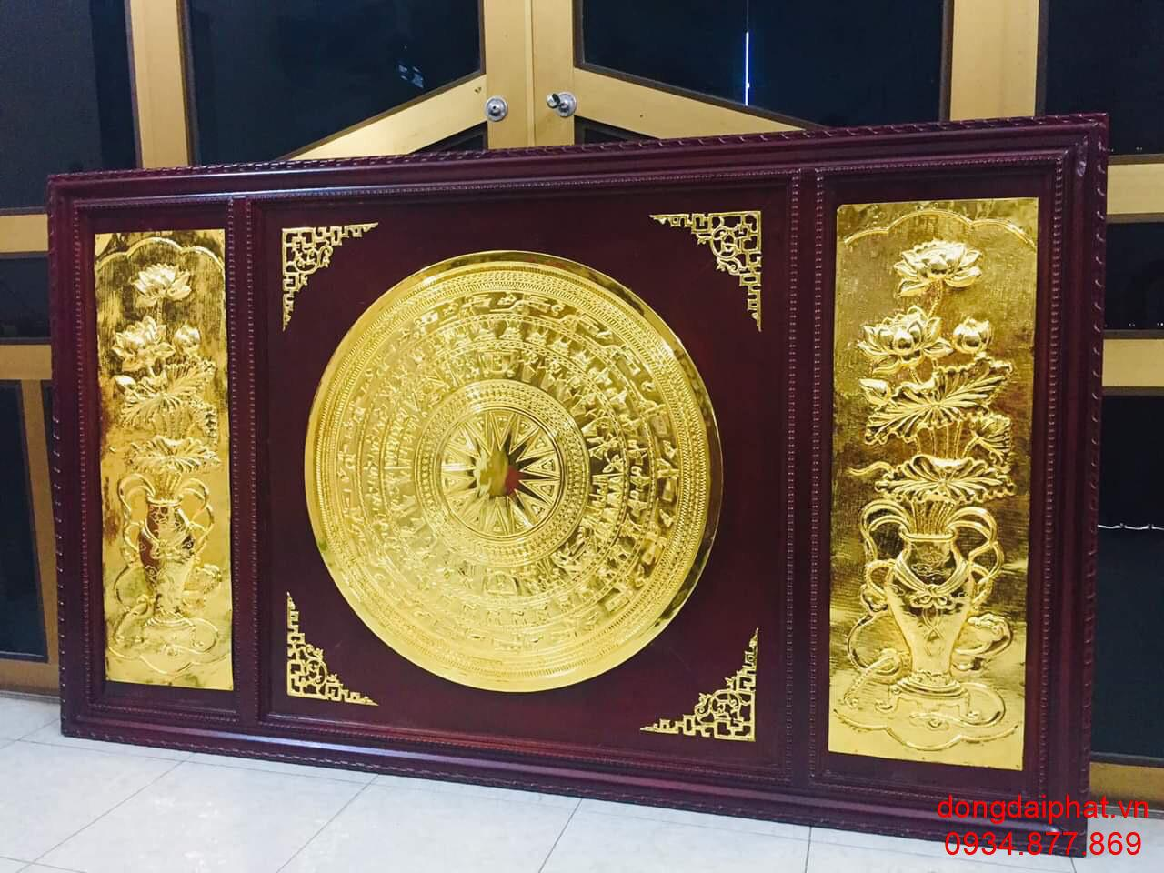 địa chỉ bán tranh trống đồng dát vàng
