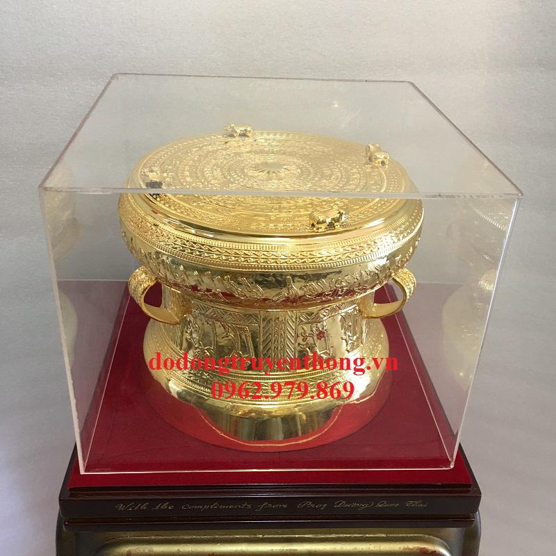nhận cung cấp trống đồng 20 cm mạ vàng uy tín
