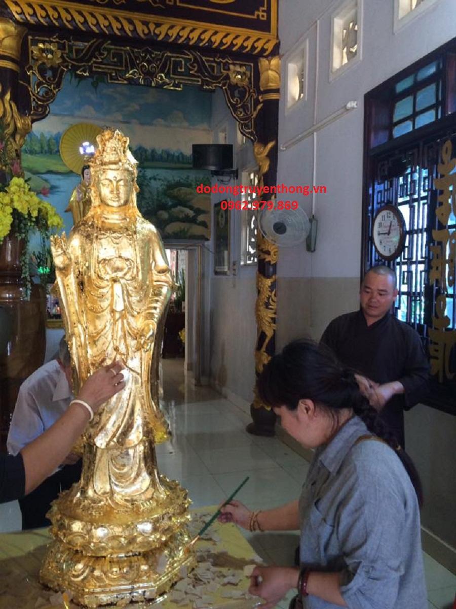 nhận dát vàng tượng phật tại chùa uy tín cam kết chất lượng sản phẩm