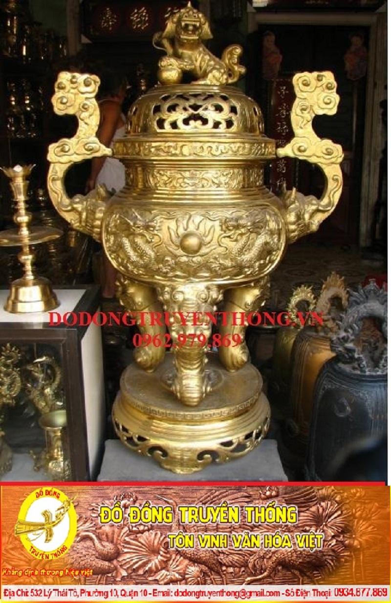 si4Giao bộ đỉnh đồng vàng trưng bày phòng thờ liệt sĩ tại hải phòng