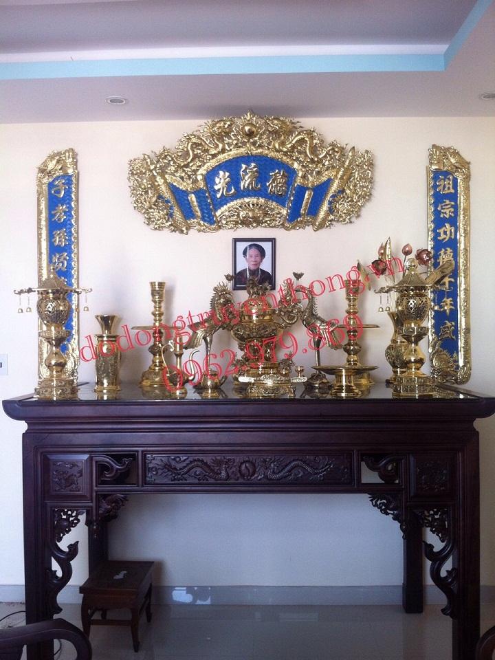 bộ lư đồng dapha cho bàn thờ người việt cơ bản và cách bài trí trên bàn thờ