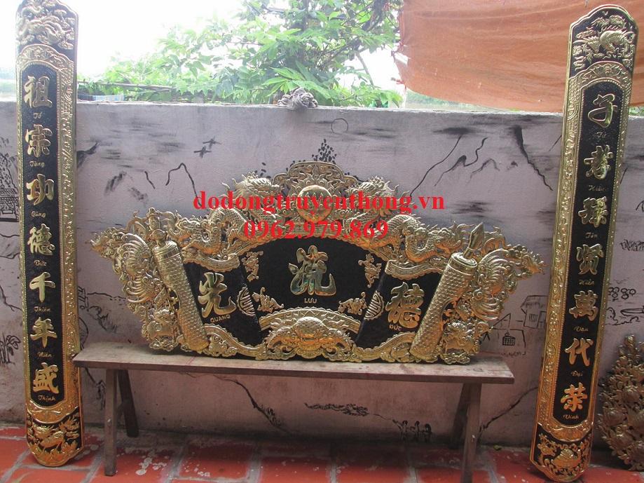 hoành phi hán nôm thờ gia tiên treo bàn thờ tại hà nội
