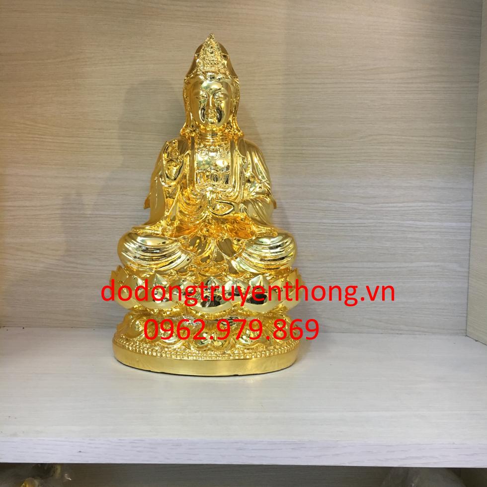 giá mạ vàng tượng quan âm 40 cm mạ vàng