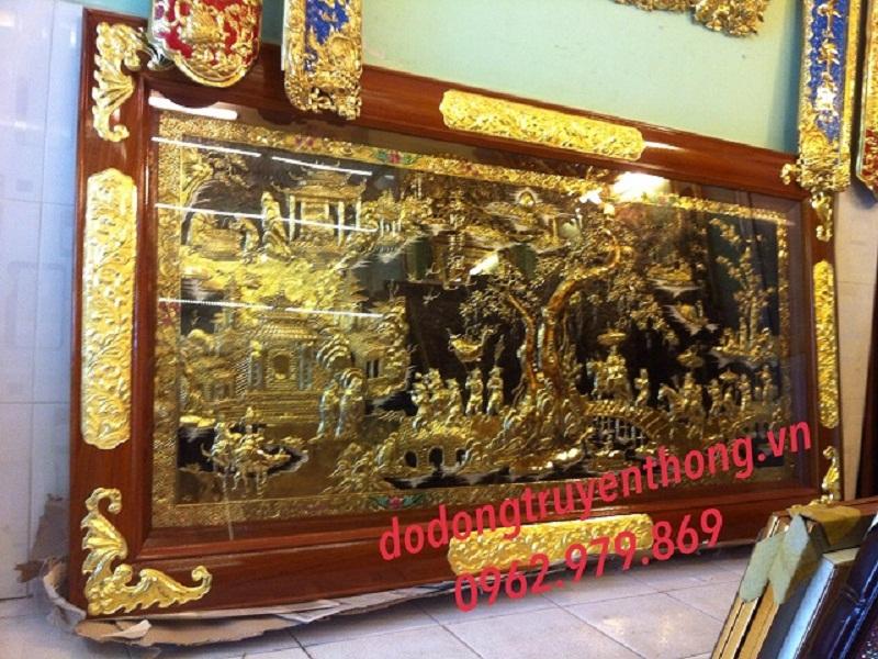 Phòng tranh  bằng đồng bán tranh đồng vinh qui bái tổ