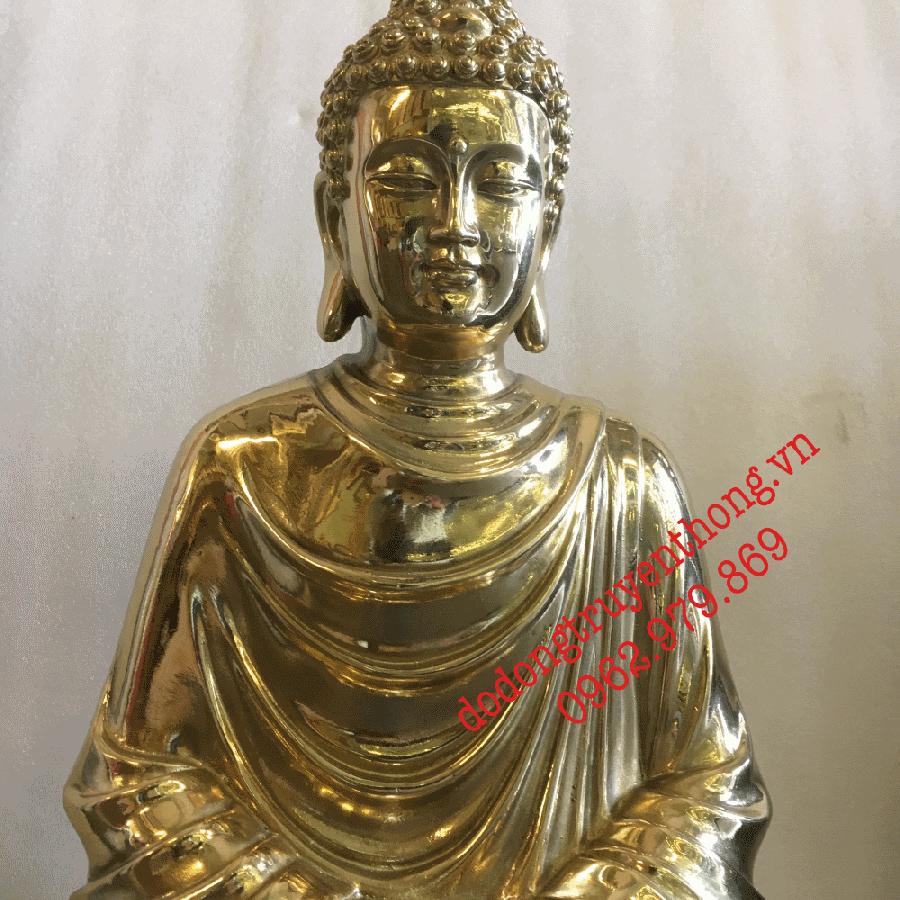 tượng phật bằng đồng nguyên chất đúc thủ công truyền thống